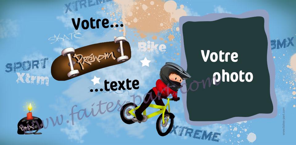 Invitation Anniversaire Garcon Sport Extreme Bmx Skate