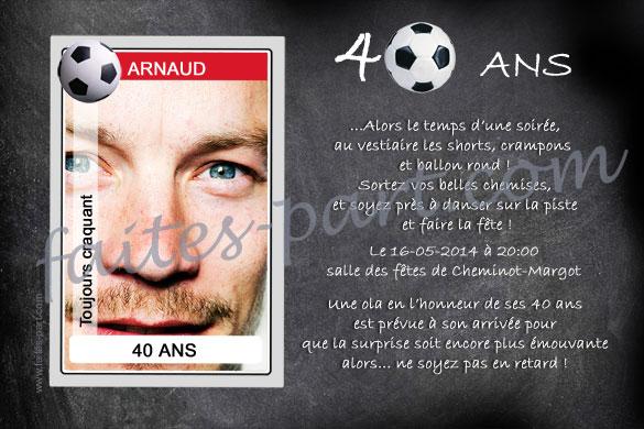 Invitation Anniversaire 40 Ans Homme Xg14 Jornalagora