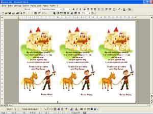 carte d'invitation chevaliers et princesses - Animation Anniversaire ...