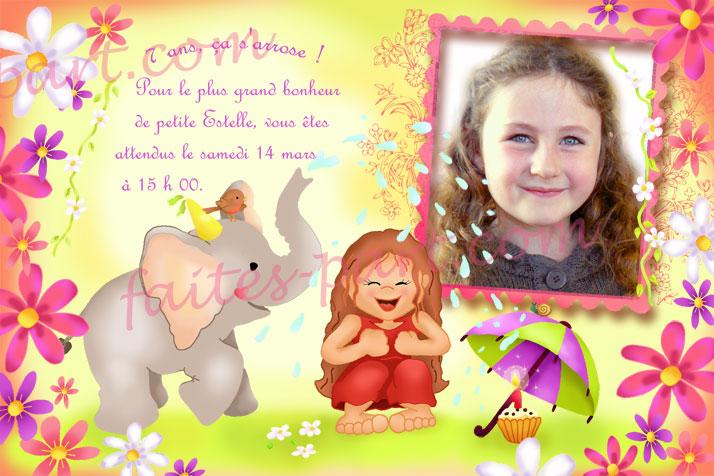Top Carte invitation avec photo pour anniversaire sur le thème des  TJ83