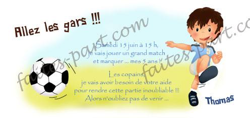 Carte Anniversaire A Imprimer Soi Meme Le Footballeur