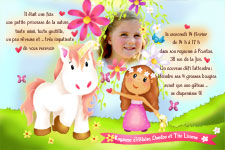 Invitation Anniversaire Cheval 6 Cartes Originales