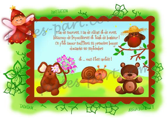 Fabuleux Carte d'anniversaire à réaliser soi même: Féérie des petits animaux FF79