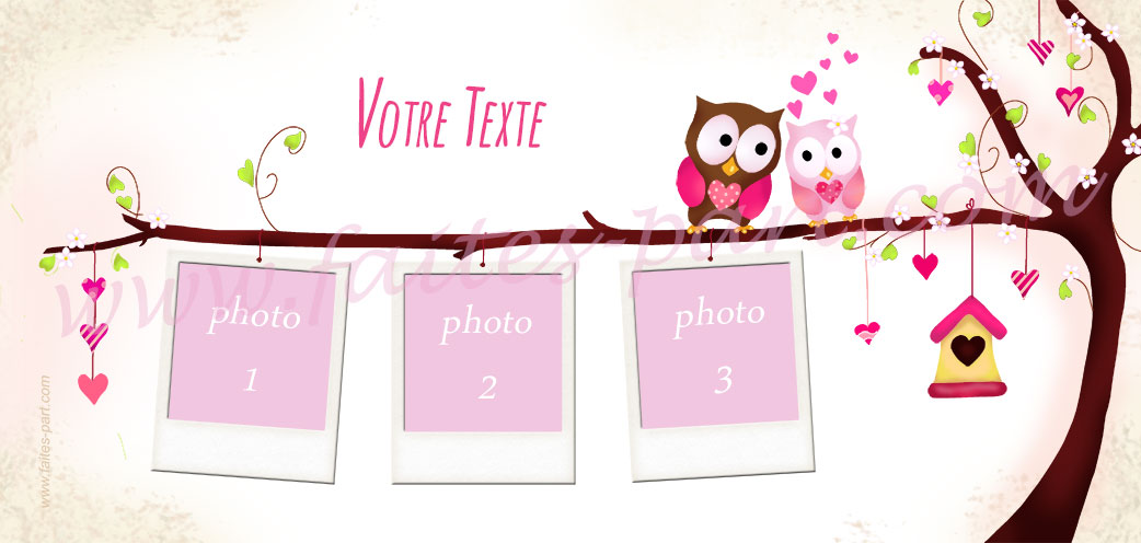 Top Faire-part bapteme Hibou et Chouette WJ26
