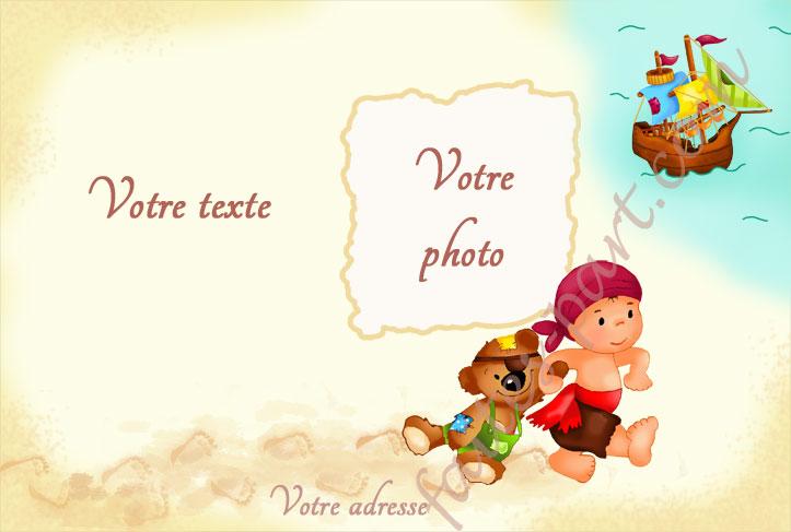 Carte D Invitation Pour Bapteme Avec Montage Photo Pirate