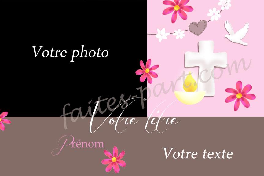 Exceptionnel Carte personnalisable avec photo pour communion ou autres  ZC46