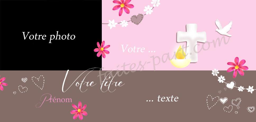 Bien-aimé Carte personnalisable avec photo pour communion ou autres  CU21