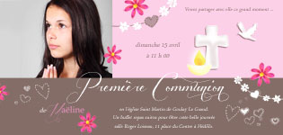 faire-part communion fille