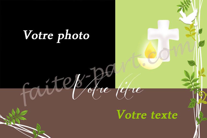 Préférence Invitation personnalisée pour communion garçon avec photo HO59