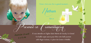 carte invitation communion garçon